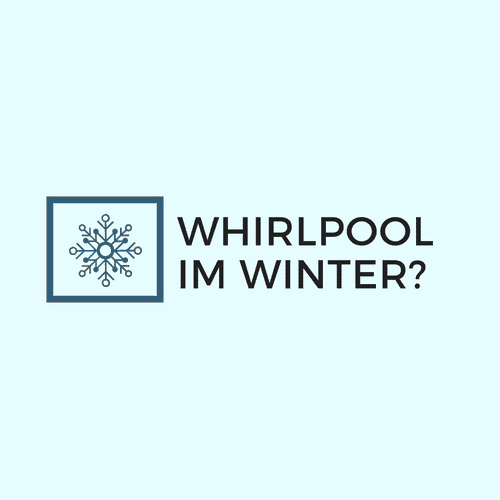 Whirlpool im Winter
