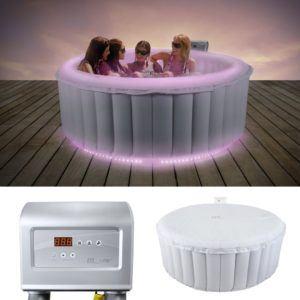 Weißer Whirlpool mit LED