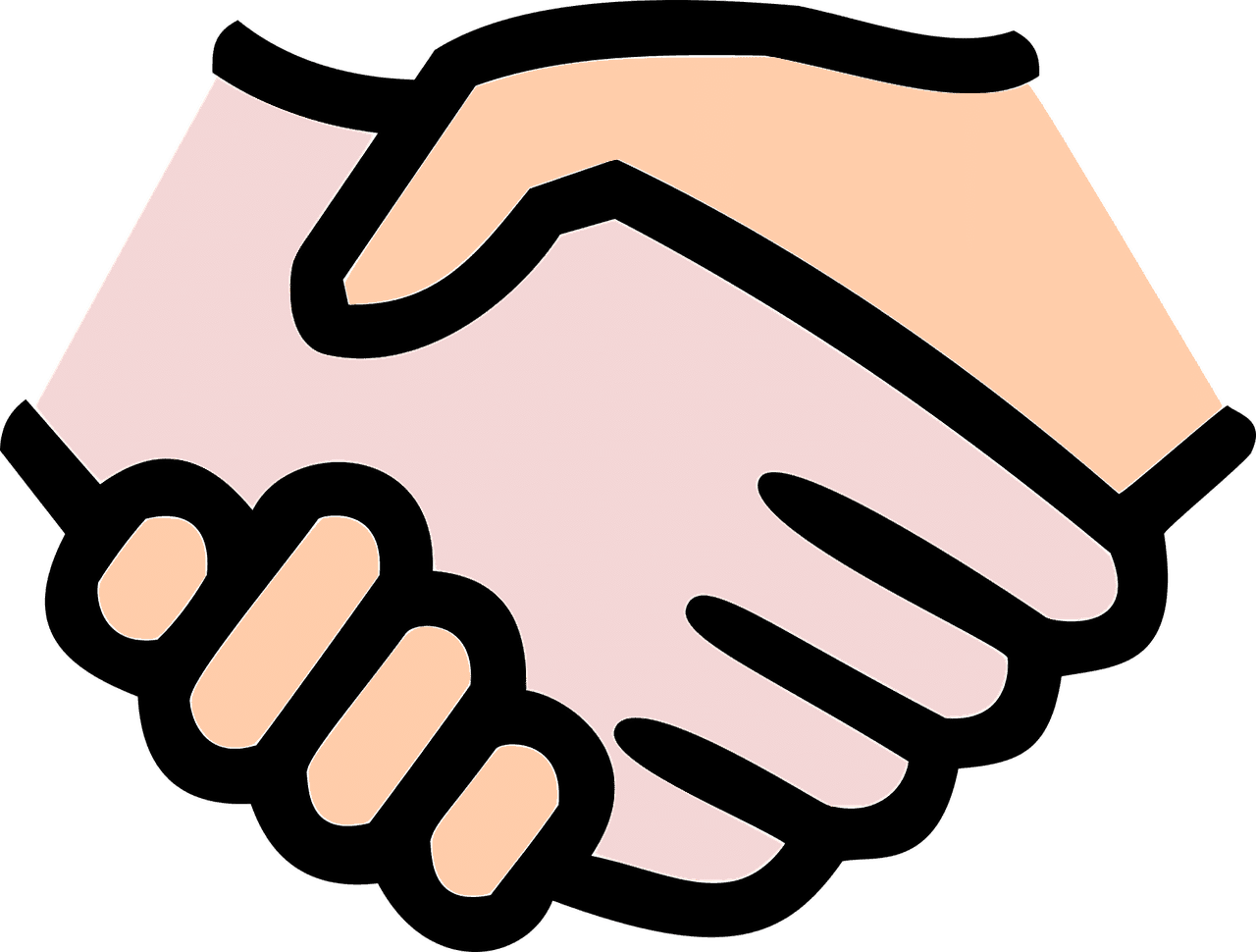 Handschlag für Kooperation