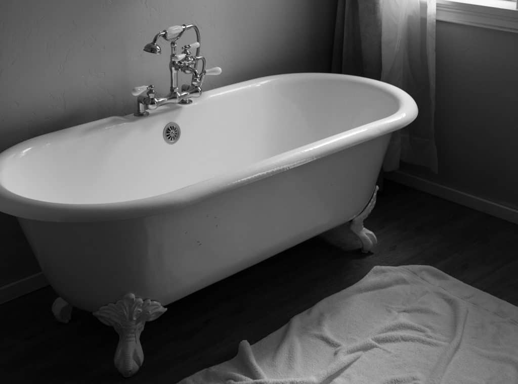 Rolltop freistehende Badewanne